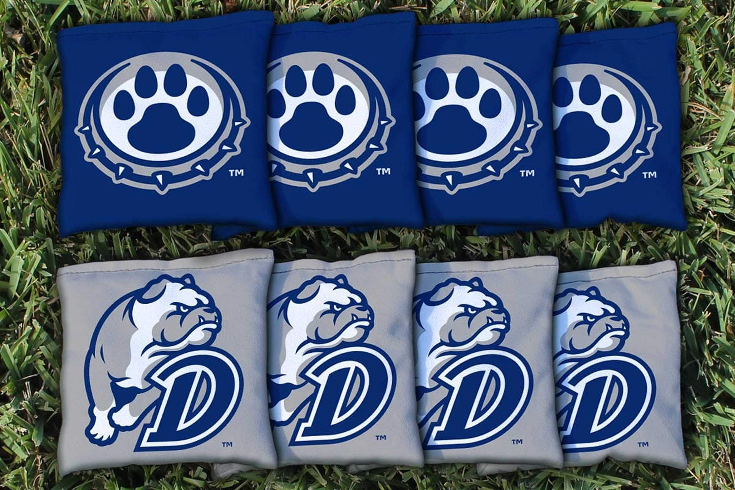 Victory Tailgate NCAA Collegiate Regulation Cornhole Game Bag Set (8 Bags Included, Corn-Filled) - Drake Bulldogs by Victory Tailgate