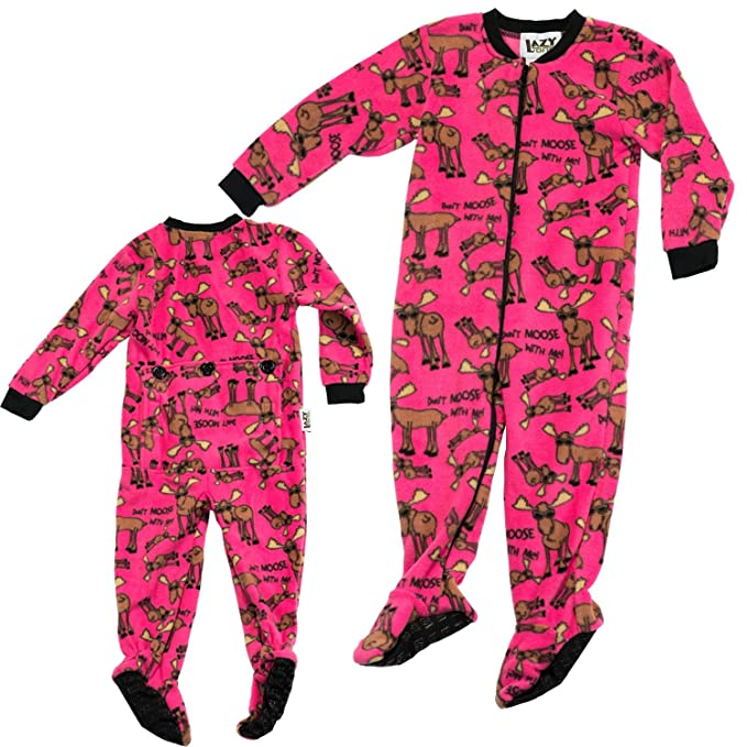 Lazy One Girl's Pink Footie Pajamas