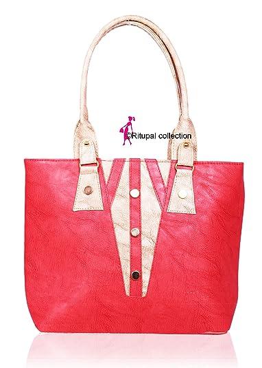 Ritupal Collection Women Shoulder Bag PU (Pink)  Amazon.in  Shoes ... 7411e058b9d42