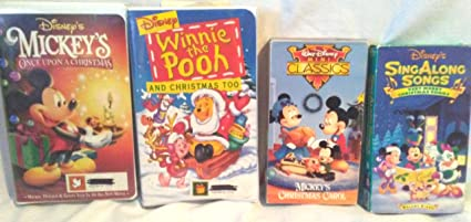 lot of 4 disney holiday family entertainment videos mickeys christmas carol vhs mickeys once - Mickeys Once Upon A Christmas Vhs