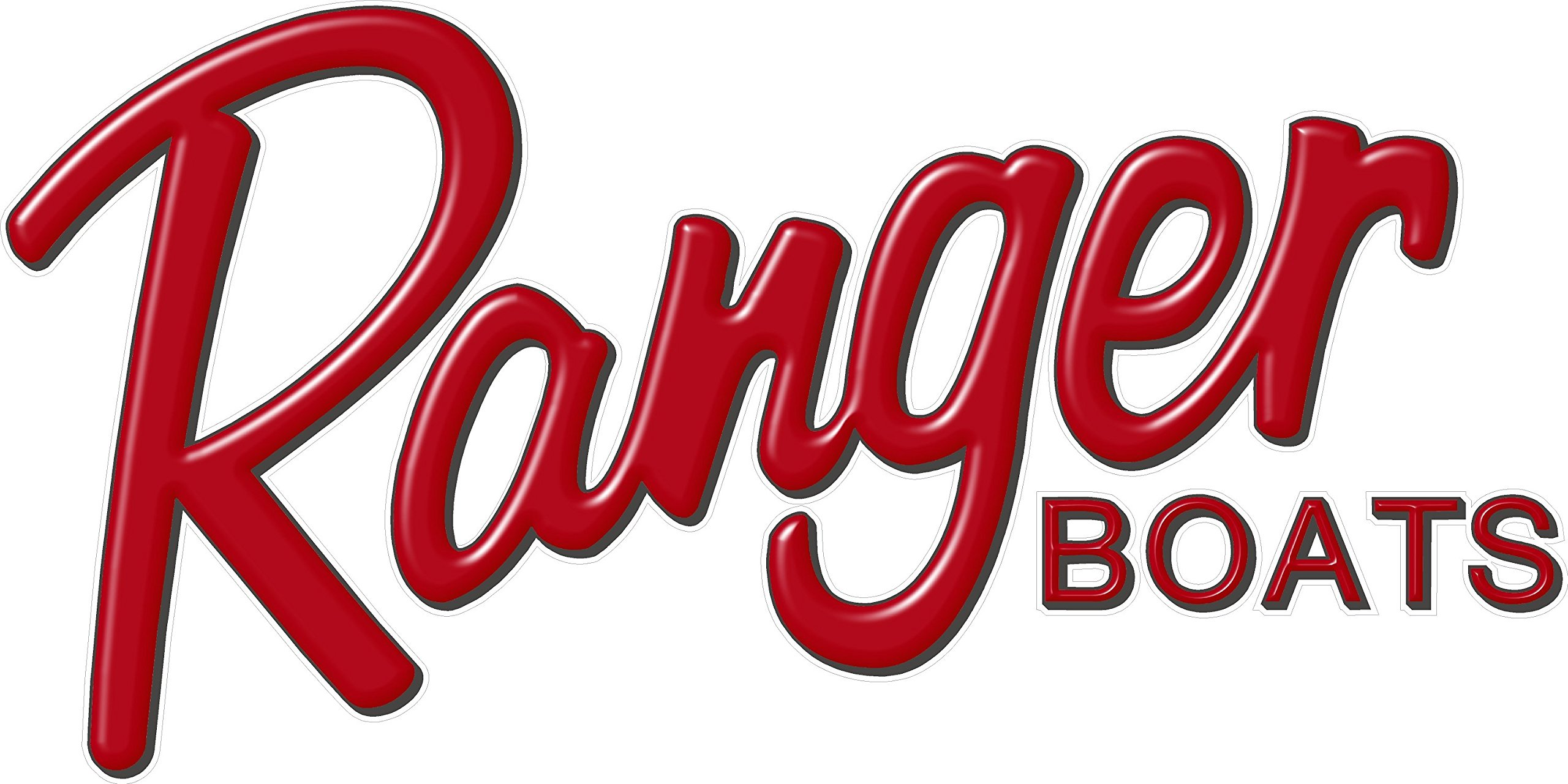 galleon ranger boats red logo decal 6x12quot