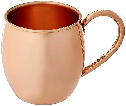 ae81f7cd987 Amazon.com  Solid Copper Moscow Mule Mug - 100% Pure Copper ...