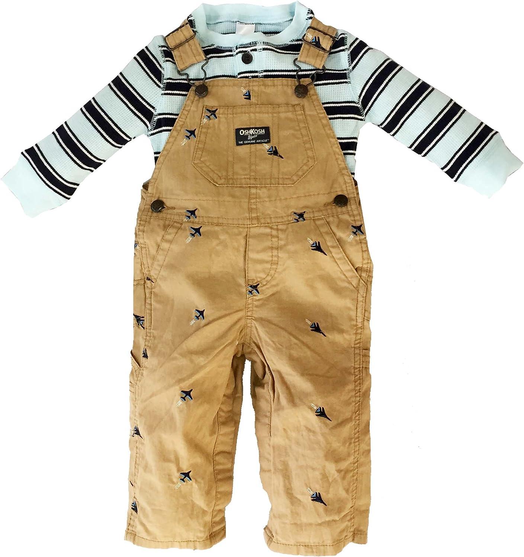OshKosh Bgosh Baby Boys Canvas Schiffli Overalls
