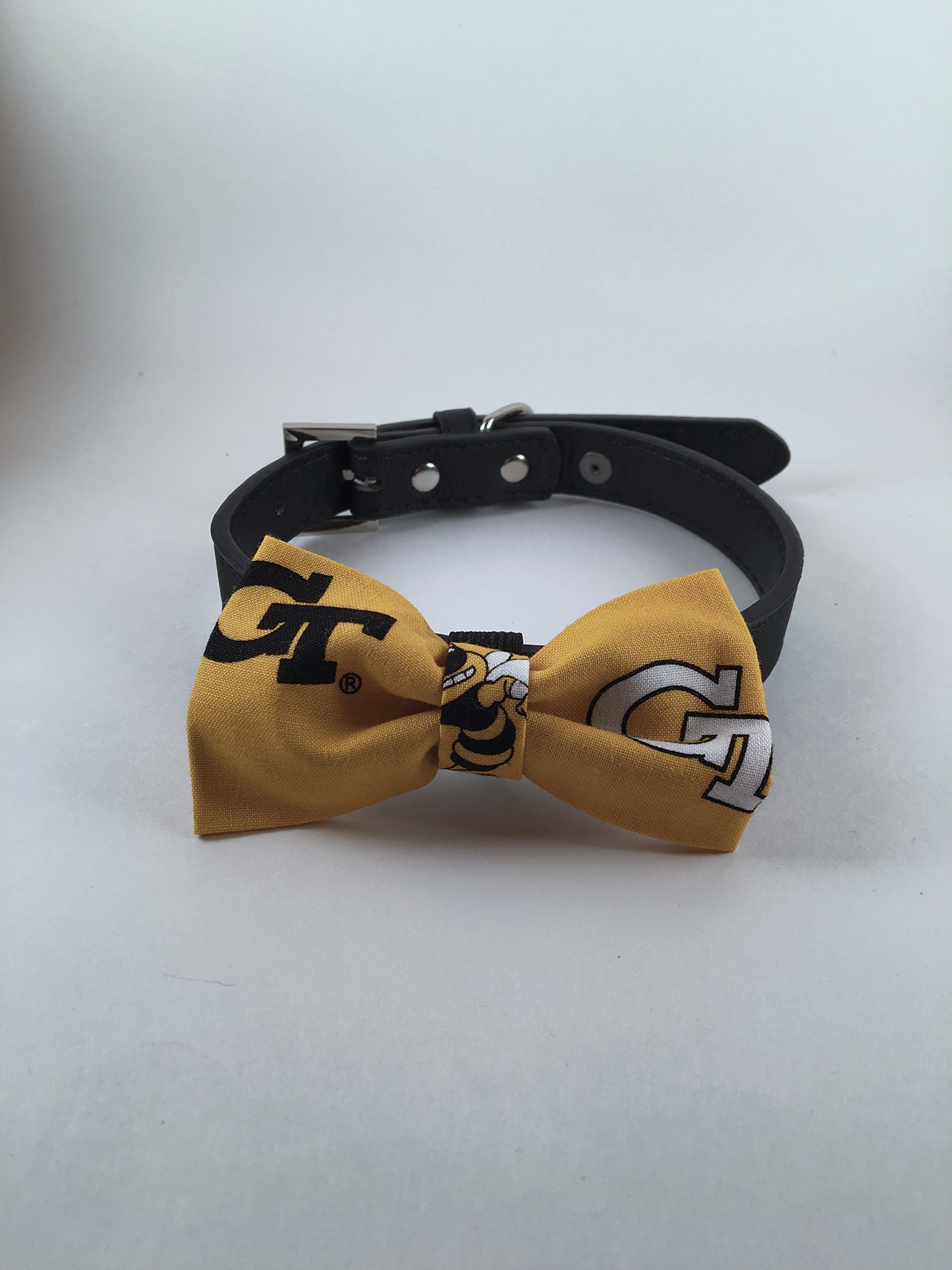 Georgia Tech Dog Bow Tie