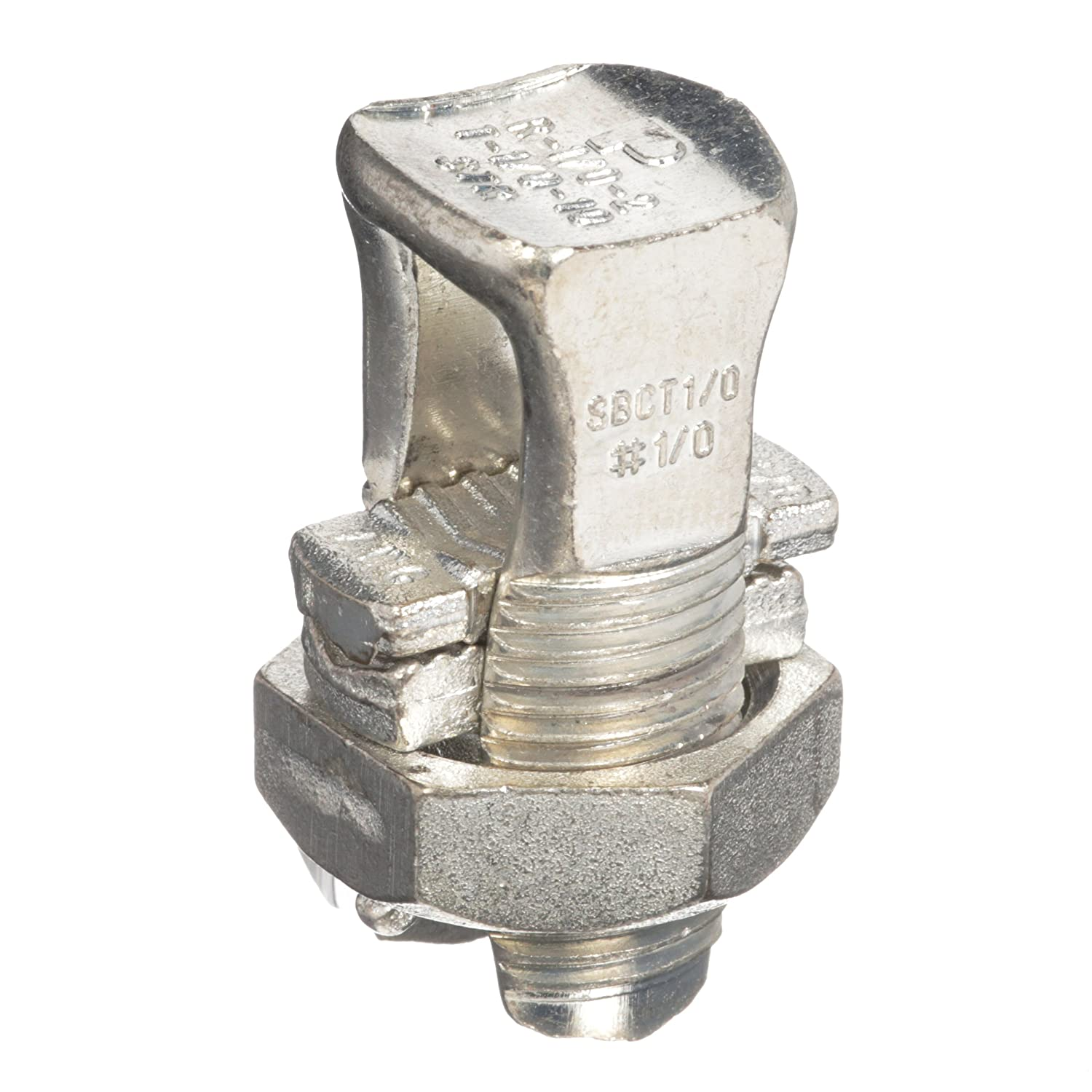 #8 STR Min//#6 SOL Max For Equal Run And Tap Copper Tin-Plated #14 STR Min Tap With One Max Run 1.06 Length 0.41 Head Width 0.62 Nut Width 1.06 Length Copper and Aluminum Code Conductor 0.41 Head Width Panduit SBCT8-C Split Nut 0.62 Nut Width