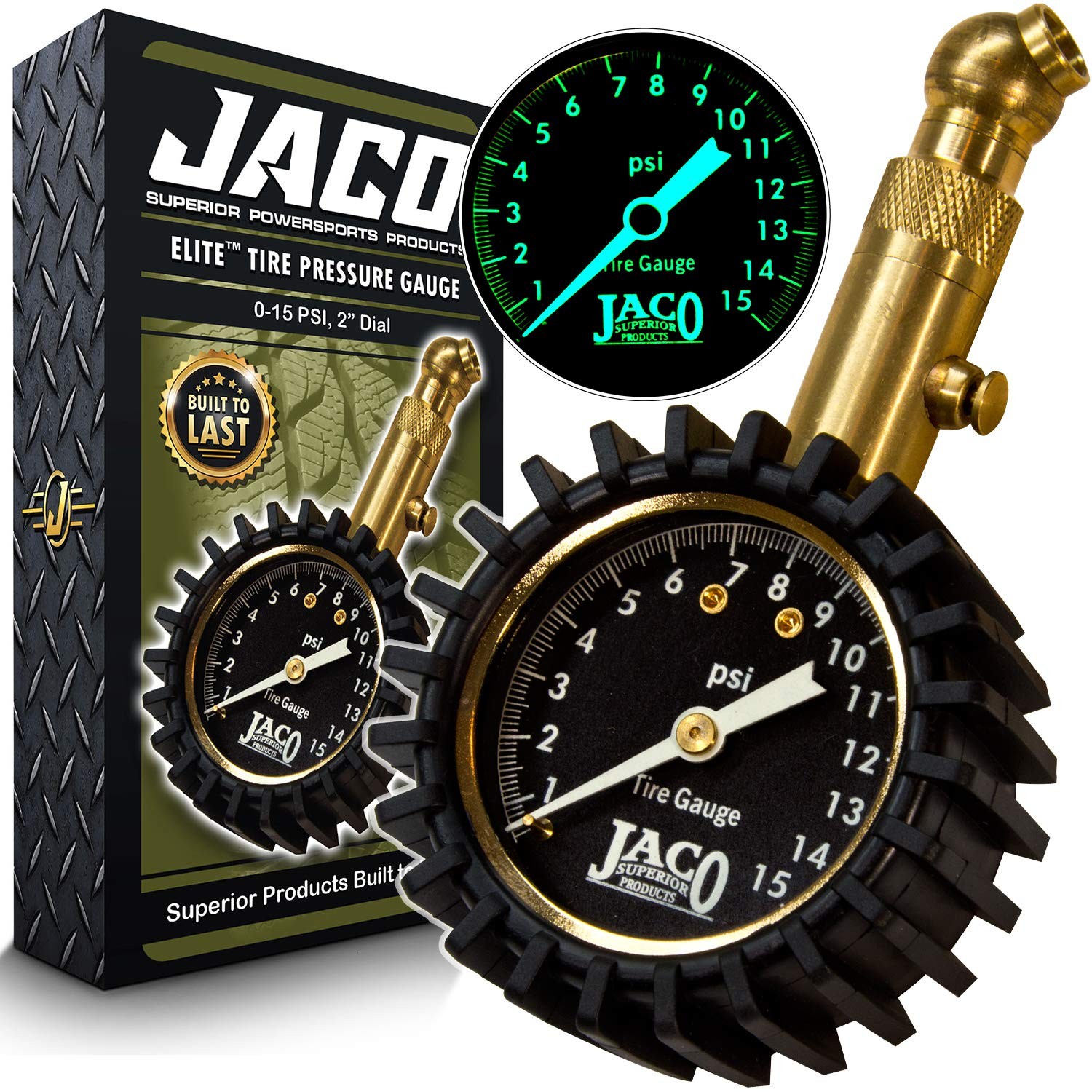 JACO Elite Tire Pressure Gauge - 15 PSI by JACO Superior Products