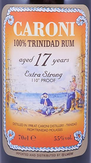 Caroni 17 Years 1998 Extra Strong 110° Proof 70cl: Amazon.es ...