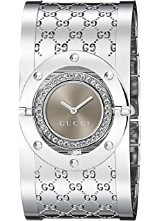 GUCCI Womens YA112416 Twirl Brown Dial Watch