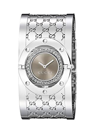 bdf98620bc7 Amazon.com  GUCCI Women s YA112416 Twirl Brown Dial Watch  Gucci ...