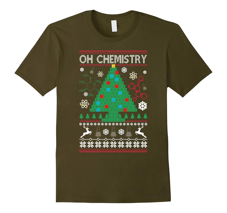 Oh Chemistry Tree Christmas T-Shirt Chemist Tree Shirt-ANZ