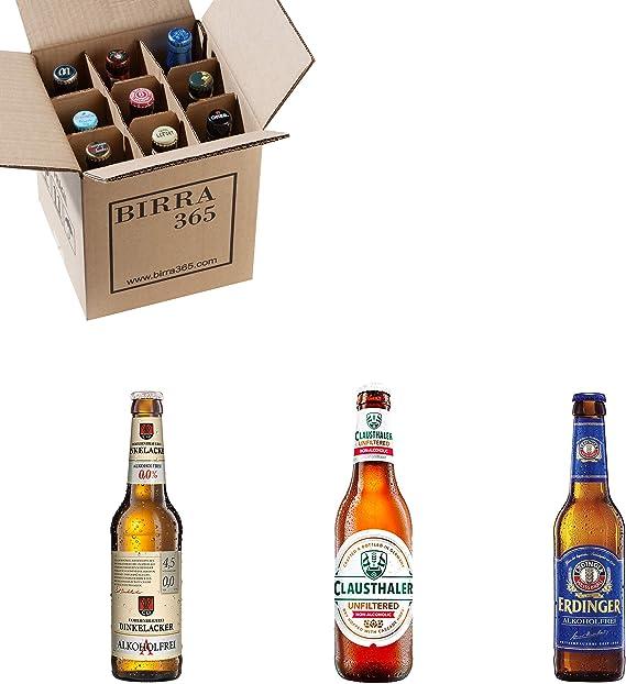 Caja con las mejores cervezas sin alcohol de mundo. Caja con 9 cervezas para disfrutar también con cervezas sin alcohol.: Amazon.es: Alimentación y bebidas
