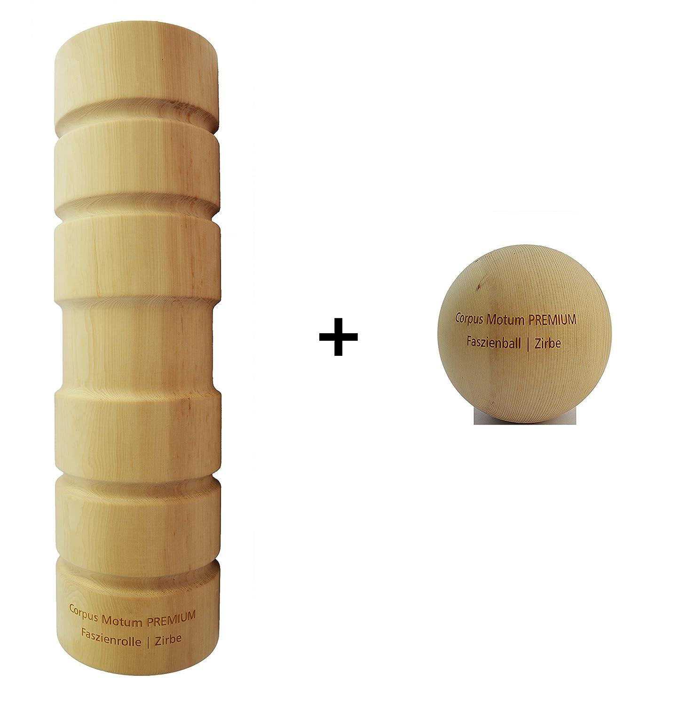 Corpus Motum Holz-Faszienrolle Premium inkl. Faszienball