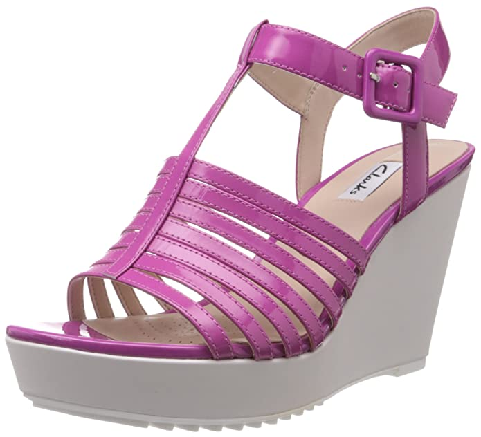 Clarks Women's Scent Lily Leather Fashion Sandals Women's Fashion Sandals at amazon