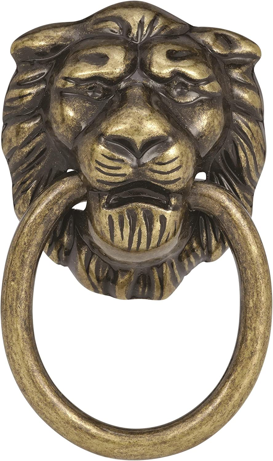 8 pieces Bought new in 1964 Drawer Pull VINTAGE Lions Head Brass finish 4 sets