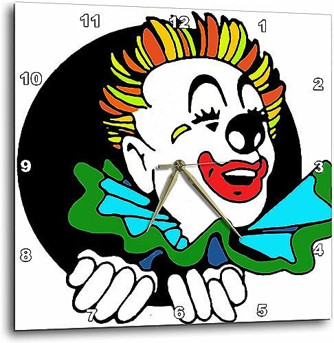 3dRose DPP_11155_1 Wall Clock, Clown, 10 by 10-Inch