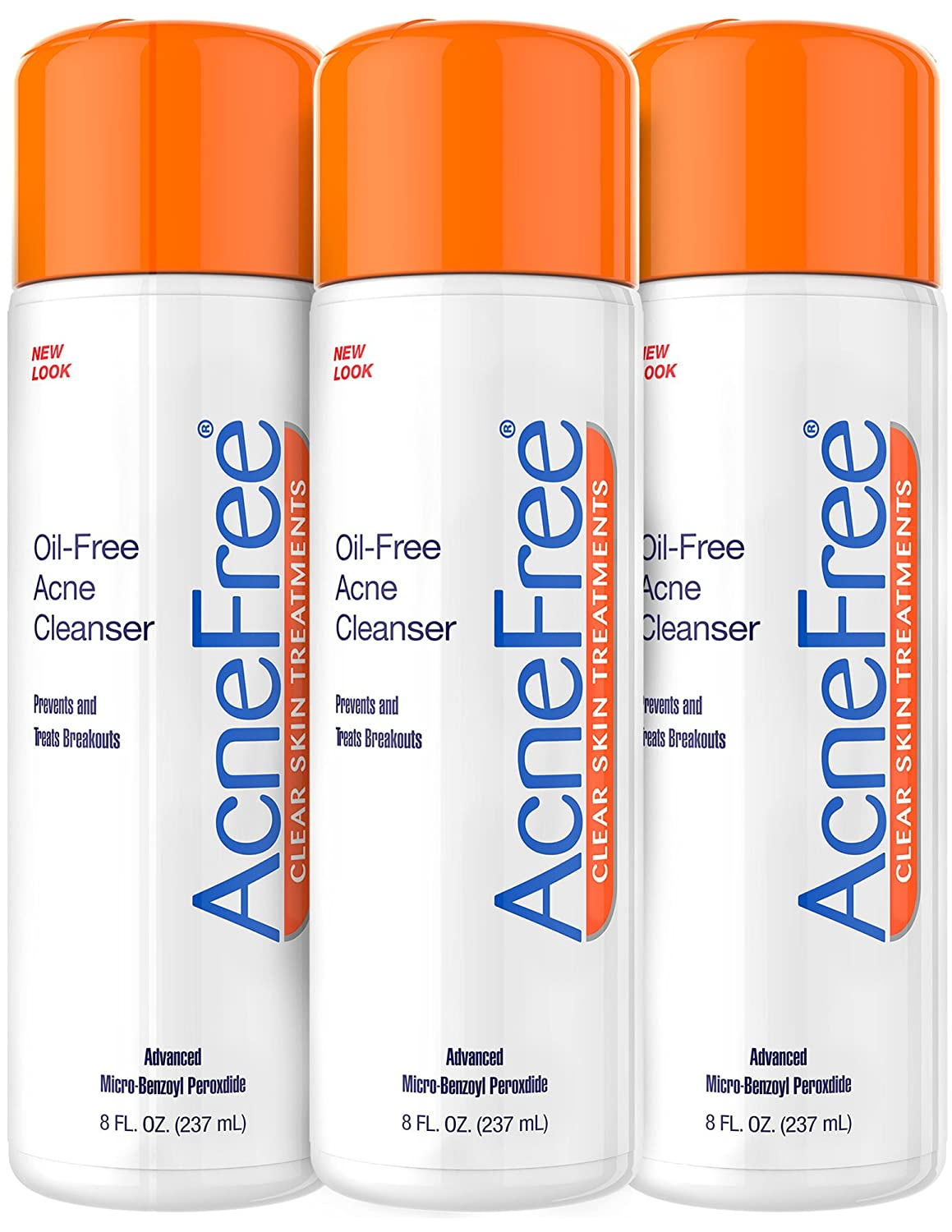 AcneFree Oil-Free Acne Cleanser, Benzoyl Peroxide 2.5% Acne Face Wash with Glycolic Acid to Prevent and Treat Breakouts, 8 Ounce 301871613086