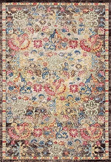 Persian-Rugs Lux Weavers 2955 Multi Colored Oriental 8 x 10 Area Rug Carpet Large New