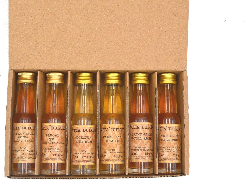 Vita Dulcis Caja de cata de Ron No. 5: Caribe Edición No.1-6x0,02l