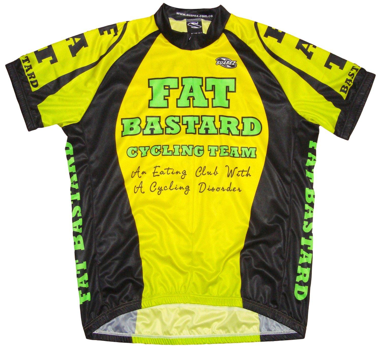 Fat Bastardメンズサイクリングジャージーイエローライムブラックメンズショートスリーブ X-Large  B07CTVGJSW