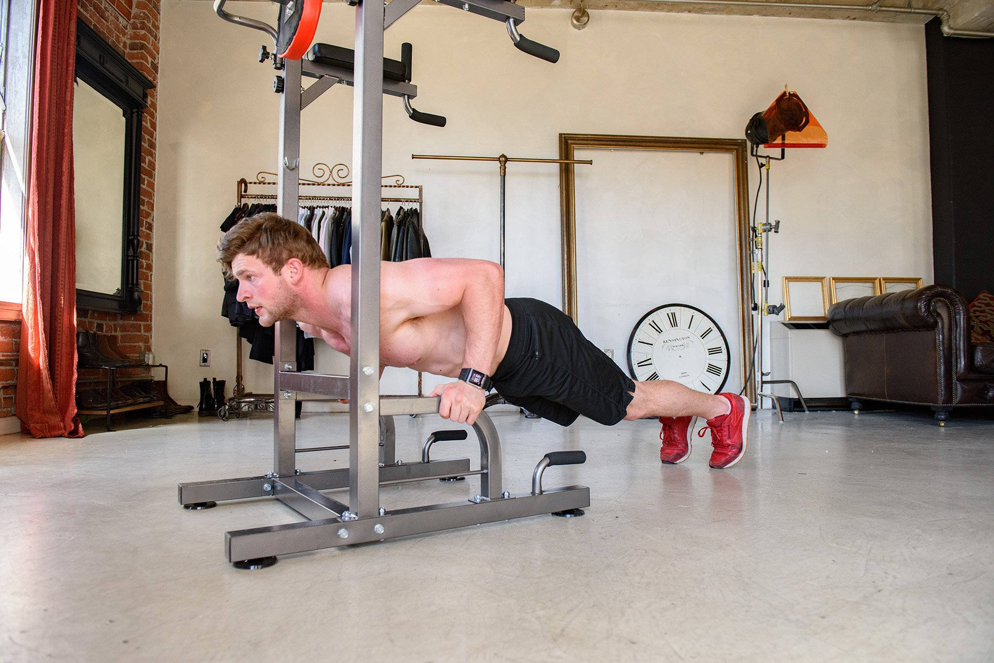 RELIFE REBUILD YOUR LIFE Power Tower Workout Dip Station for Home Gym Strength Training Fitness Equipment Newer Version by RELIFE REBUILD YOUR LIFE (Image #7)