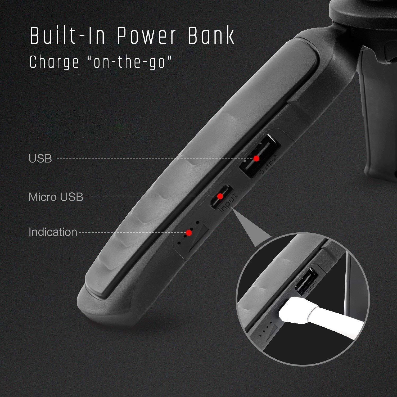 per Moza Mini-MI Gimbal carico utile massimo 1,5 kg compatibile con telecamere//GoPro//cellulari Treppiede con Power Bank integrato MOZA