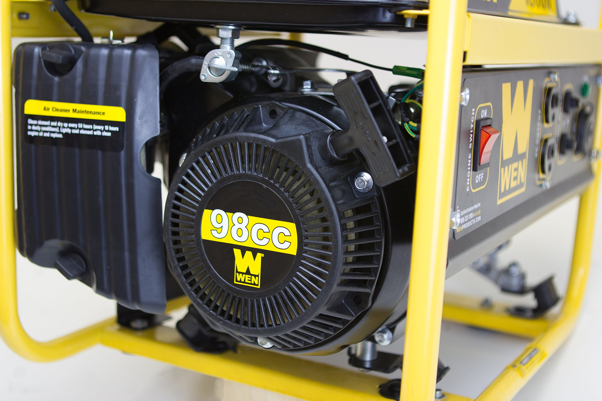 WEN 56180, 1500 Running Watts/1800 Starting Watts, Gas Powered Portable Generator, CARB Compliant by WEN (Image #3)
