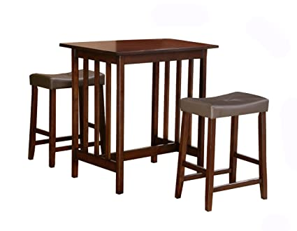Amazoncom Homelegance Scottsdale 3 Piece Counter Table And Stools