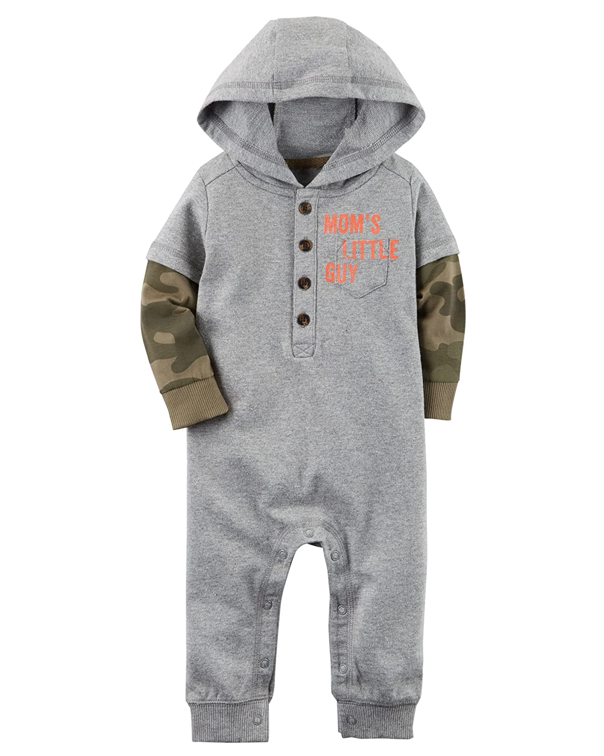 3564d4f30f2 Amazon.com  Carter s Baby Boys  Hooded French Terry Jumpsuit  Clothing