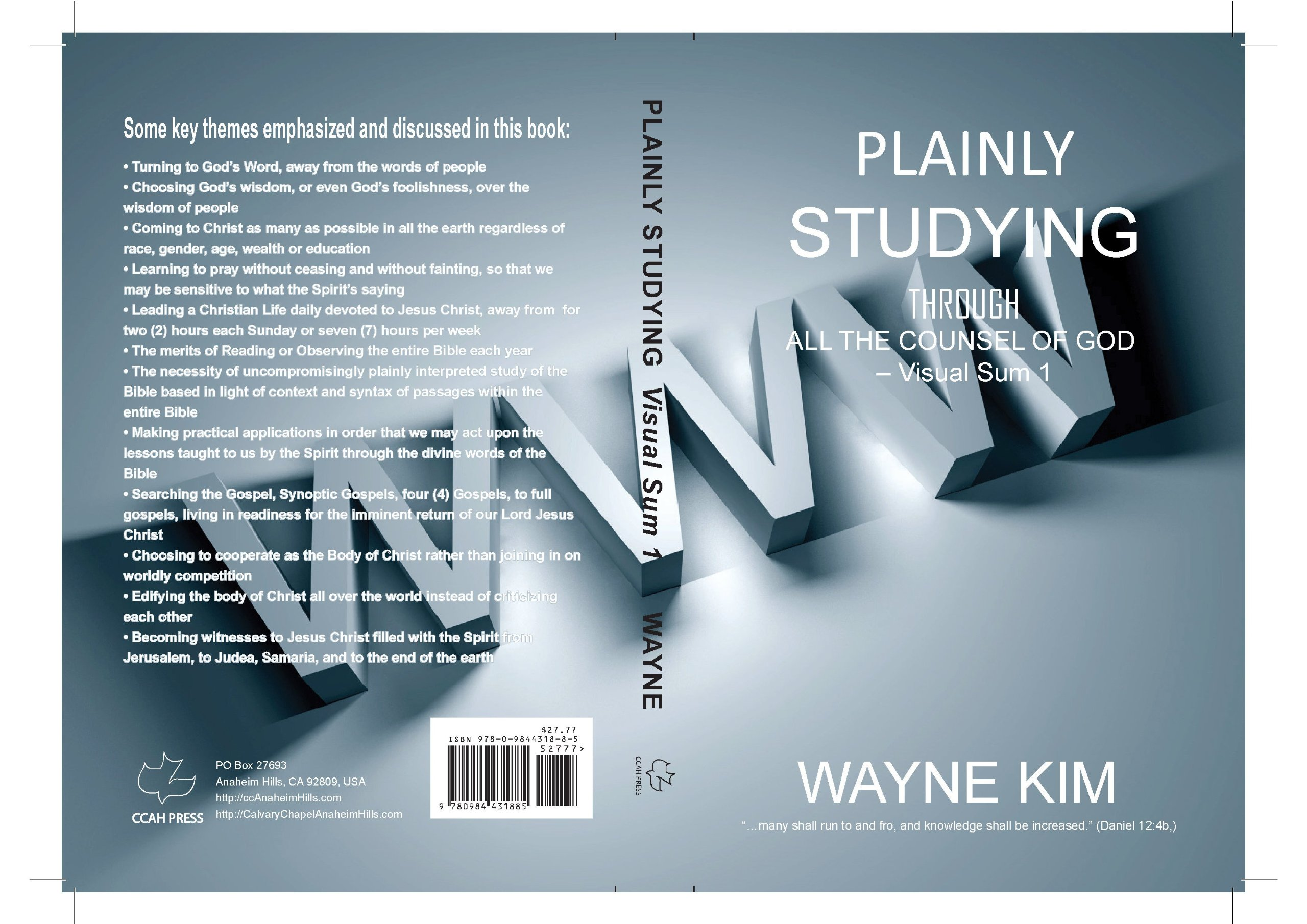 Download Plainly Studying Through All the Counsel of God - Visual Sum 1 pdf epub