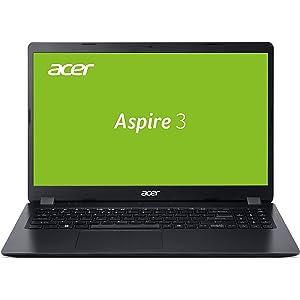 Acer Aspire 3 (A315-54K-34G9) 39,6 cm (15,6 Zoll Full-HD matt) Multimedia Laptop (Intel Core i3-7020U, 8 GB RAM, 256 GB PCIe SSD, Intel HD, Win 10 Home) schwarz