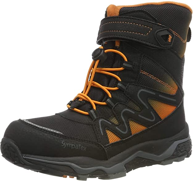 Lurchi Boys' Lizard-Sympatex Snow Boots, (Black Orange 39), 2 UK,Lurchi,3326602