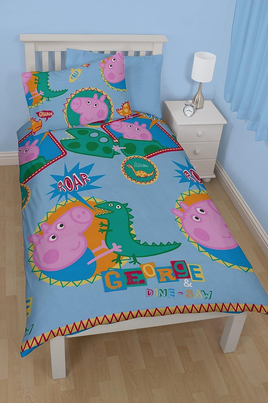 Peppa Pig Bedroom Decor Peppa Pig George Roar Single Rotary Duvet Set Multi Colour