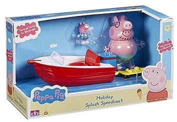 Peppa Pig - Vehículo de Aventuras Familia, Color Rojo (Bandai 05583)