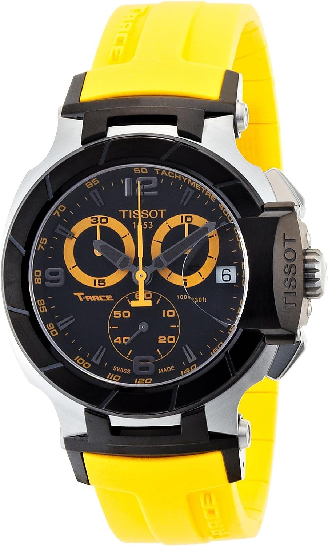 Tissot T-Race T0484172705703 - Reloj de Caballero de Cuarzo, Correa de Goma Color Negro