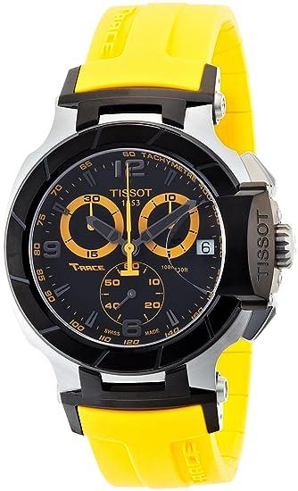 Image Unavailable. Image not available for. Color  Tissot Men s  T0484172705703 T-Race Quartz Yellow Strap Chronograph ... 19cbddfec50
