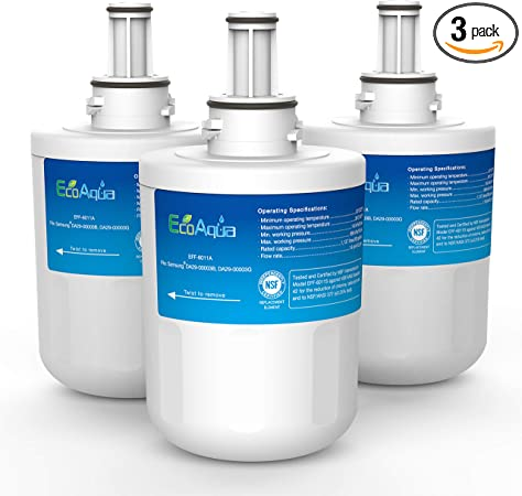 DA29-00003A 3 Pack Refrigerator Water Filter Replacement by Arrowpure Compatible with Samsung Aqua-Pure Plus DA29-00003B HAFCU1 Certified According to NSF 42/&372