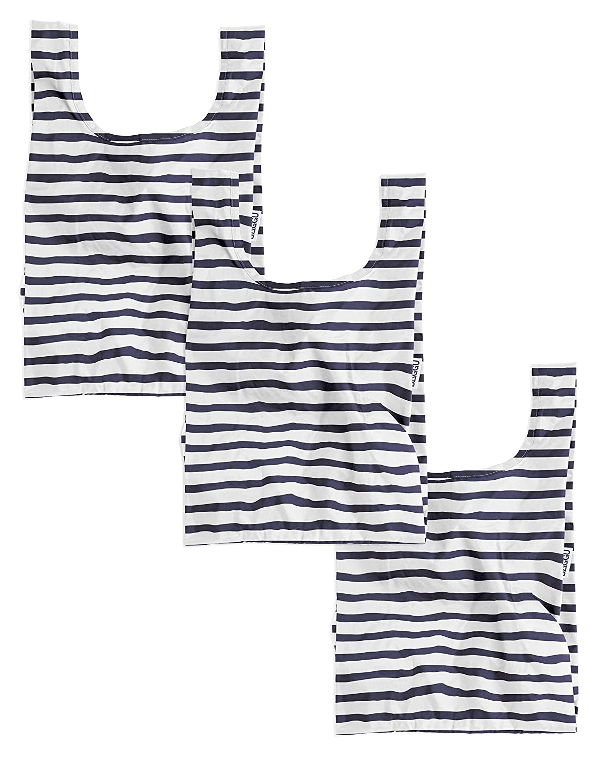 BAGGU Small Reusable Shopping BagSailor Stripe by BAGGU B01E4HQ2WO  Sailor Stripe 3 Pack One Size