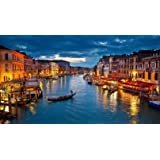 Asmi Collections Beautiful Venice City Art Canvas Painting - Frameless (3 * 2 Feet)