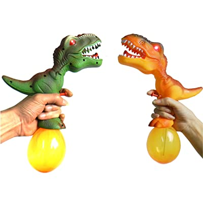 NiGHT LiONS TECH 12.8 inch 2 Packs Dinosaur Water Gun with Sound LED for Sea / Water / Pool Party, Birthday, Dinosaur Themed Party, Kids Summer Indoor and Outdoor Game Water Gun: Toys & Games
