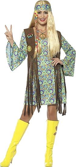 SmiffyS 43127X1 Disfraz De Hippie Años 60 Para Chica Con Vestido ...
