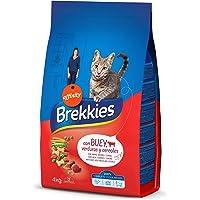 Brekkies Pienso para Gatos con Buey, Cereales y Verdura, 4 kg