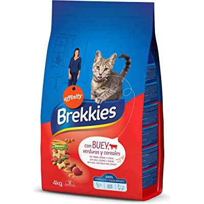 Brekkies Pienso para Gatos con Buey, Ternera y Verdura - 4000 gr