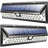 Litom Solarleuchten, 54 LED mit 120° Weitwinkel Bewegungs Sensor Wandleuchte Wasserdichte Außen, Solar Betriebene Außenleuchte, 3 Modi Sicherheit Licht für Garten, Zaun 2 Stück