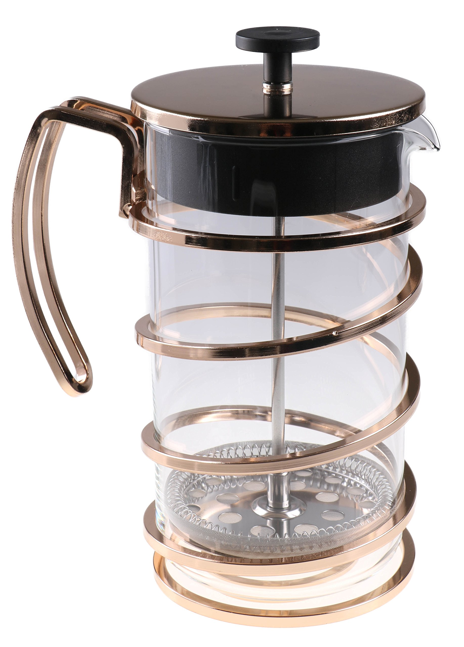 Gold 1 Liter French Press Coffee Maker by Clever Chef | Large French Press Perfect for Morning Coffee | Maximum Flavor Coffee Brewer With Superior Filtration | 4 Cup Capacity (33.85 fl oz/1 liter)
