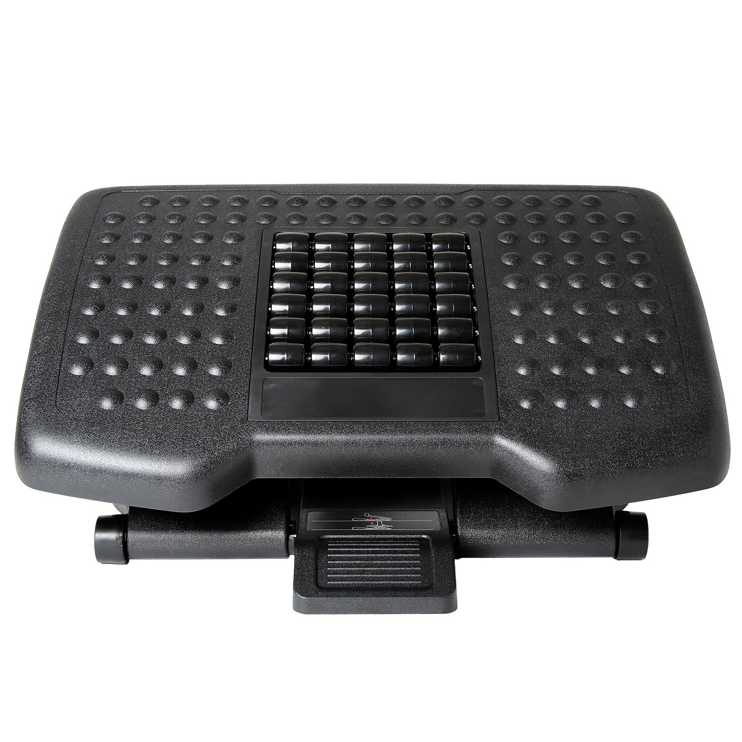 Ivation Adjustable Massage Footrest Rollers - Great Home, Office, Under Desk & More