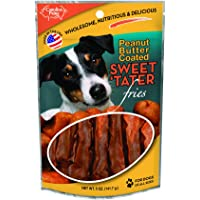 1 Pouch Carolina Prime Pet Peanut Butter Coated Sweet Fries Treat For Dogs