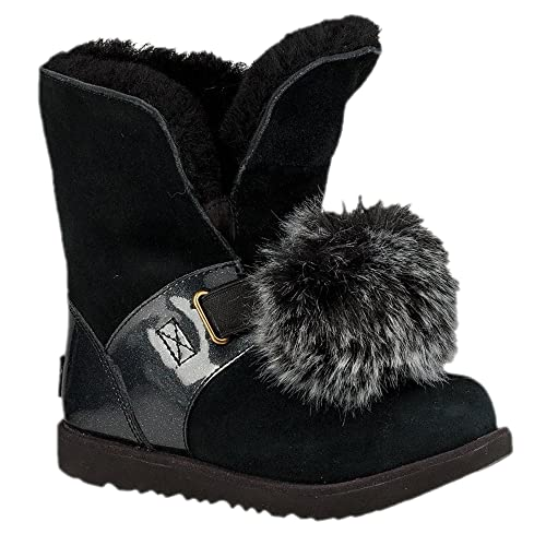 ef0a8bbf392 UGG Girls Isley Patent WP Boot Black Size 4 Big Kid M: Amazon.ca ...