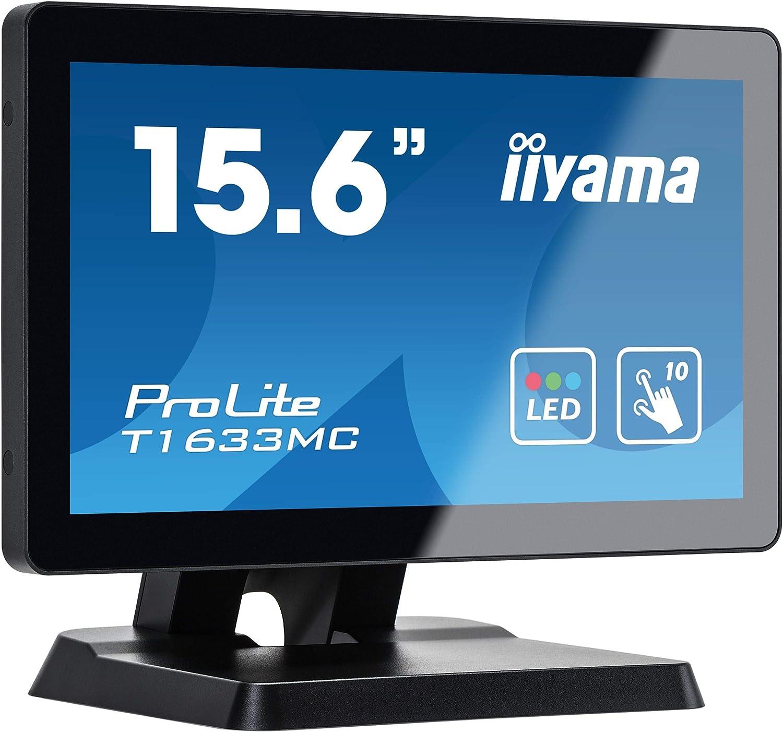 liyama Prolite T1532MSC-B5X - Monitor LED XGA a 10 punti Multitouch da 38 cm Nero 16 Zoll