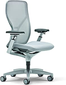 Allsteel Acuity 24x60 Weight-Activated Mesh Back Task Chair with Fully Adjustable Arms Grey, Light Gray
