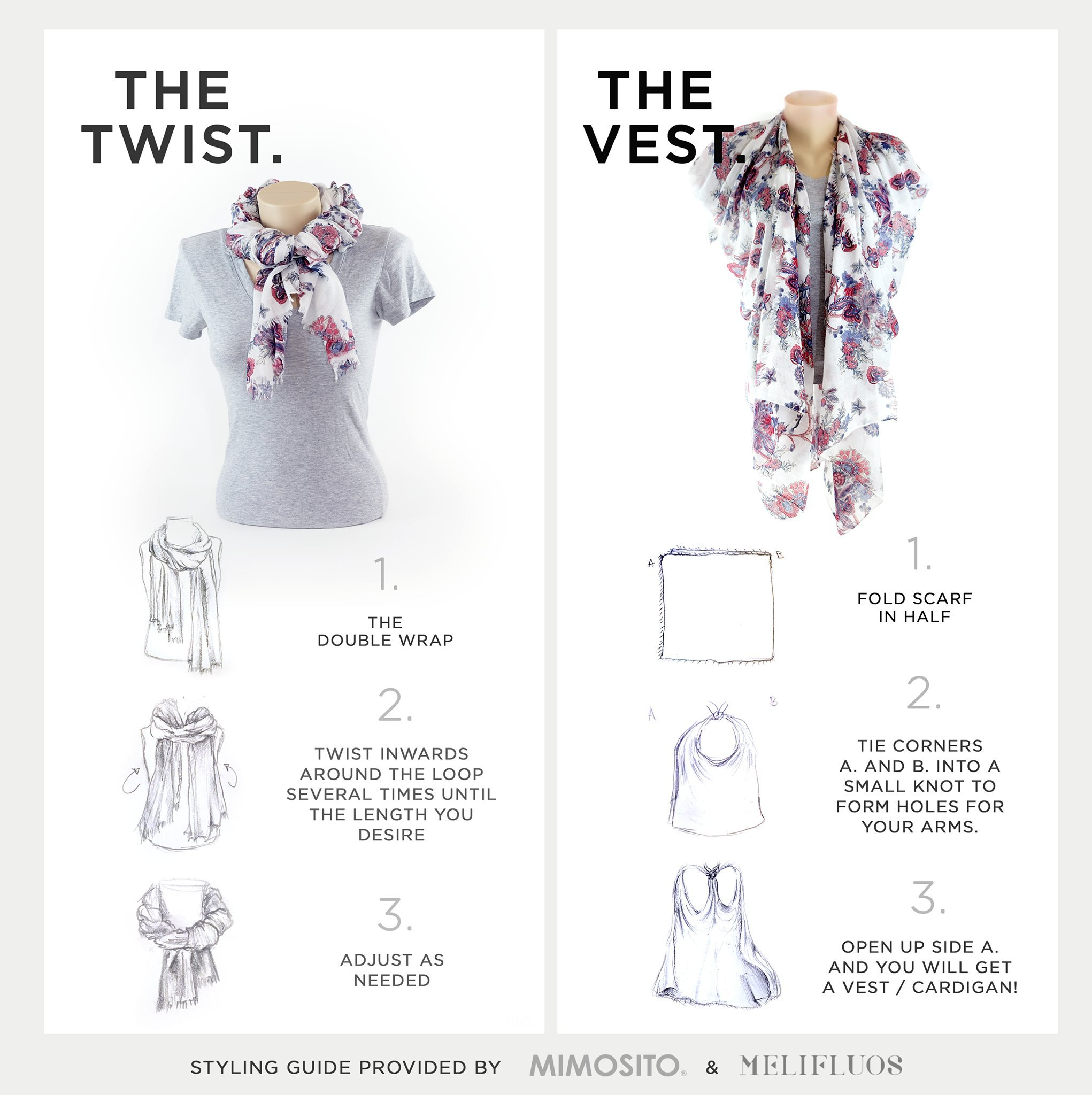 Scarf for Women Lightweight Butterfly Fashion Fall Winter Scarves Shawl Wraps by Melifluos (SS23) by MELIFLUOS DESIGNED IN SPAIN (Image #6)